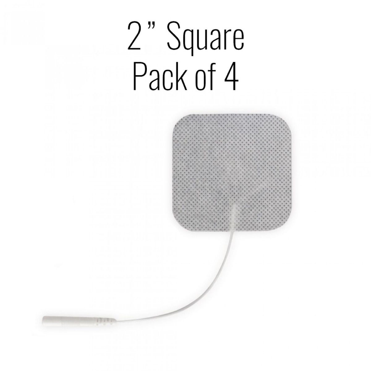 "Metron Cloth Electrodes, 2"" Square, 4/pk."