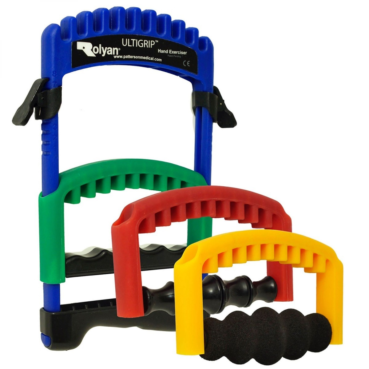 Rolyan Ultigrip Hand Exercisers, Frame With Set of 3 Inserts