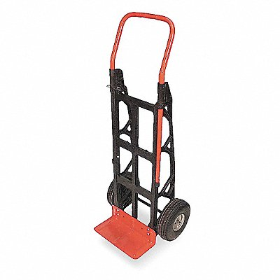 Composite Hand Truck 600 lb Load Capacity Continuous Frame Flow-Back 15 Noseplate Width