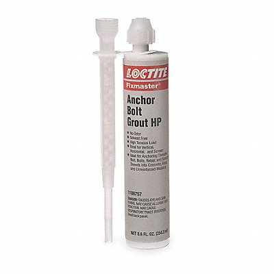Gray Anchor Bolt Grout HP Kit 8.6 oz Cartridge Coverage Not Specified