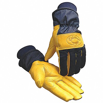 Cold Protection Gloves Heatrac? Lining Safety Cuff with Knit Wrist Cuff Navy/Gold S PR 1