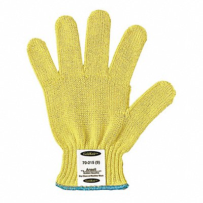 Uncoated Cut Resistant Gloves ANSI/ISEA Cut Level 3 Kevlar? Lining Yellow L PR 1