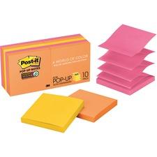 Post-it Super Sticky Pop-up Notes - Rio de Janeiro Color Collection,3x3, Popup, MMMR33010SSAU, Pack