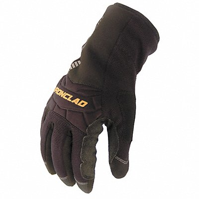 Cold Protection Gloves Insulated Lining Gauntlet Cuff Black/Black XL PR 1