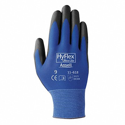 18 Gauge Smooth Polyurethane Coated Gloves Glove Size 11 Blue/Black