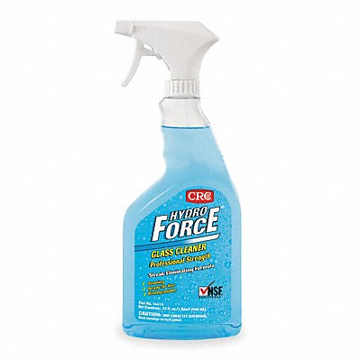 Glass Cleaner 32 oz Trigger Spray Bottle Unscented Liquid Ready to Use 1 EA