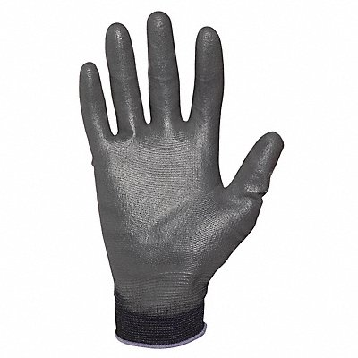13 Gauge Smooth Polyurethane Coated Gloves Glove Size S Black