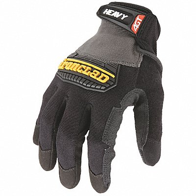 Construction Mechanics Gloves Synthetic Leather Palm Material Black S PR 1