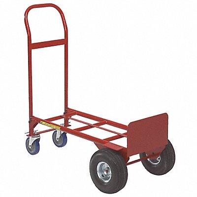 Convertible Hand Truck 750 lb./650 lb Horixontal/Vertical Load Cap. Continuous Frame Flow-Back