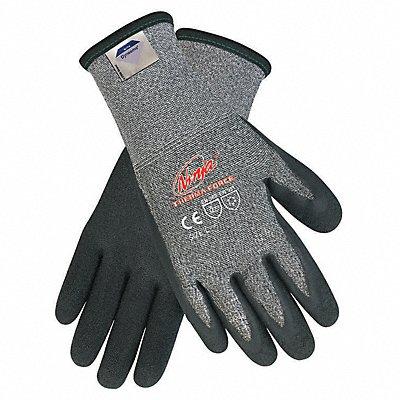 Biopolymer Cut Resistant Gloves ANSI/ISEA Cut Level A5 HPPE Lining Black Gray XL PR 1