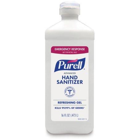 Hand Sanitizer, Purell Advanced 16 oz. Ethyl Alcohol Gel, Bottle - (Case of 12 Bottles)