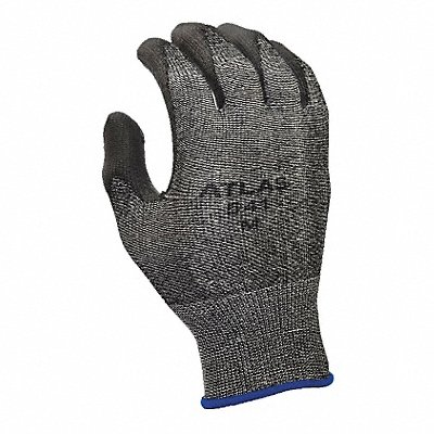 Polyurethane Cut Resistant Gloves ANSI/ISEA Cut Level 2 HPPE Lining Gray S PR 1