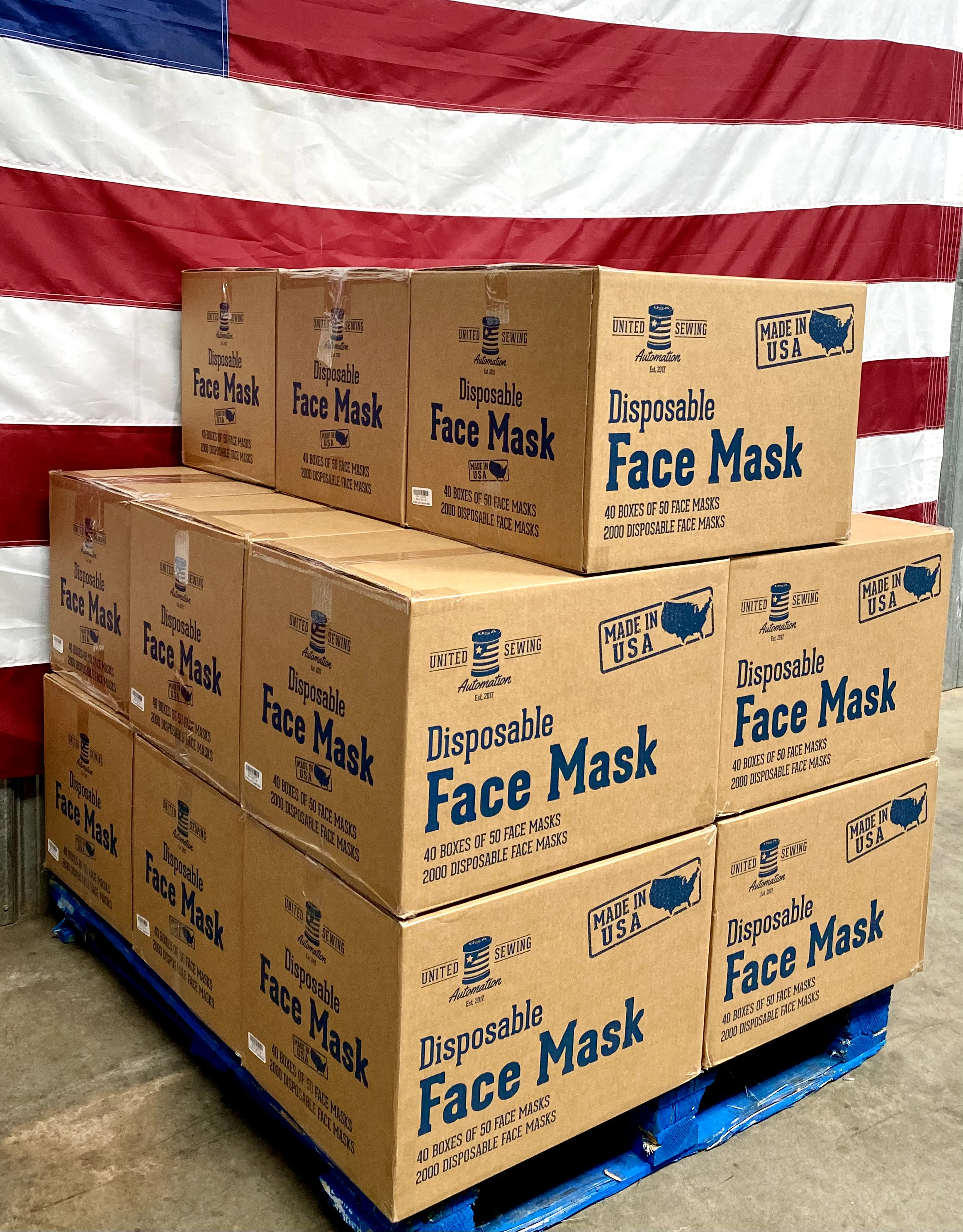 MADE IN USA - ASTM Level 3 - 510K FDA Product code FXX Face Masks - 3-ply - Half Pallet - $0.15 each