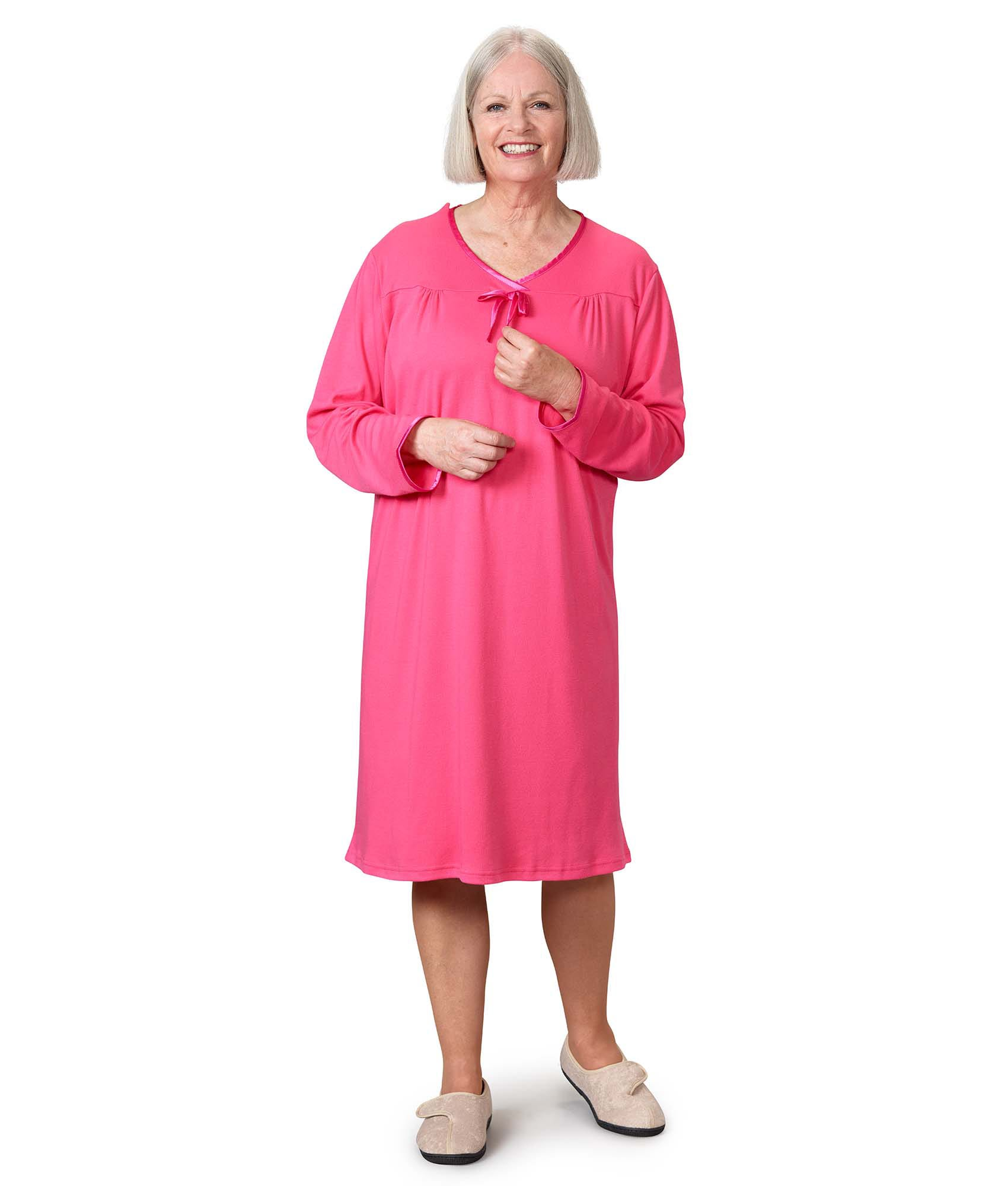 Open Back Antimicrobial Nightgown