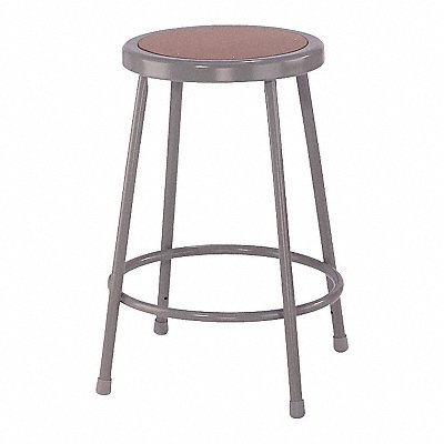 Round Stool with 24 Seat Height Range and 300 lb Weight Capacity Gray