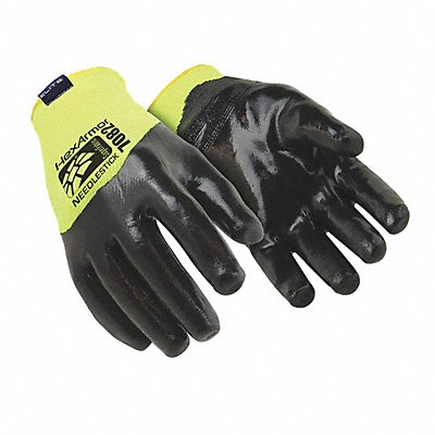 Nitrile Prototype Glove Large ANSI/ISEA Cut Level A9 SuperFabric? Lining Black Hi-Vis L PR 1