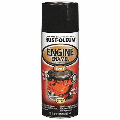 Engine Enamel Gloss Black 12 oz Spray