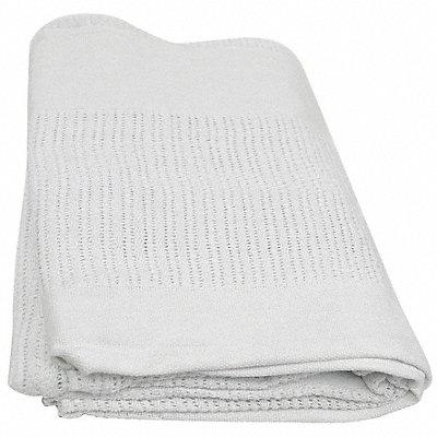 90 x 66 Twin 100 Cotton Thermal Blanket White