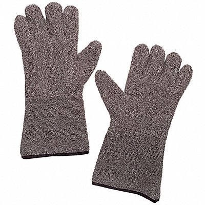 Heat Resistant Gloves Terry Cloth 450¬F Max Temp. Men's XL PR 1