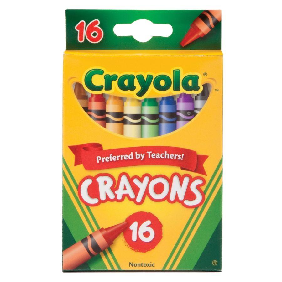 Crayola Standard Crayon Set, Peg Box, Assorted Colors, Box Of 16