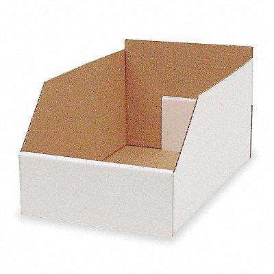 Corrugated Shelf Bin 200 lb Test Rating White 8-1/2 H x 17 L x 10-1/4 W 1EA  |  Box of 15