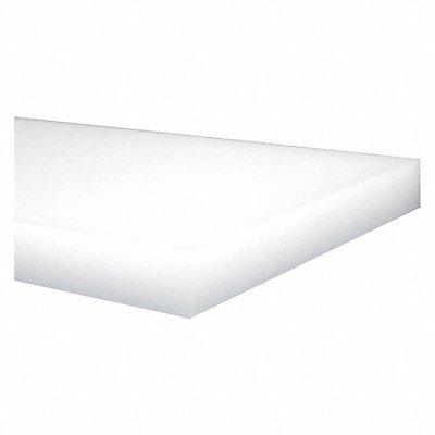 Sheet Stock HDPE 24 L x 12 W x 0.125 Thick 176 Max Temp (F) Off-White