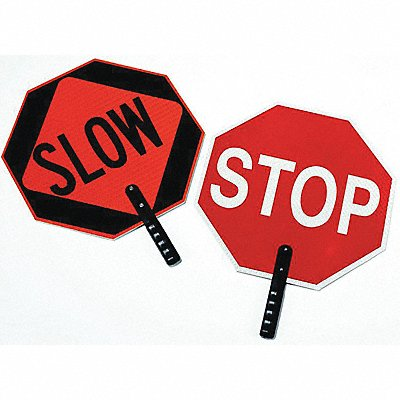 Paddle Sign Stop/Slow Plastic