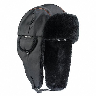 Winter Hat with Chin Strap L/XL Black