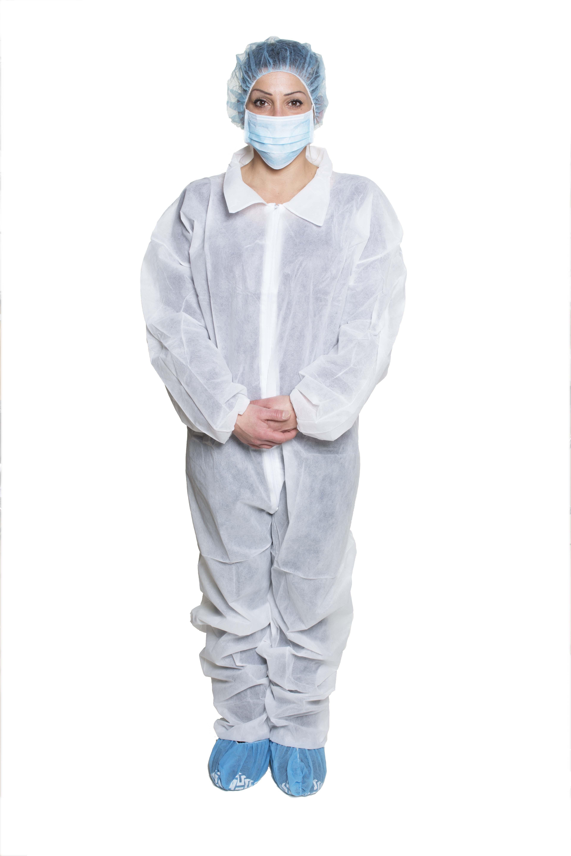 Dukal Non-sterile, Coveralls, White