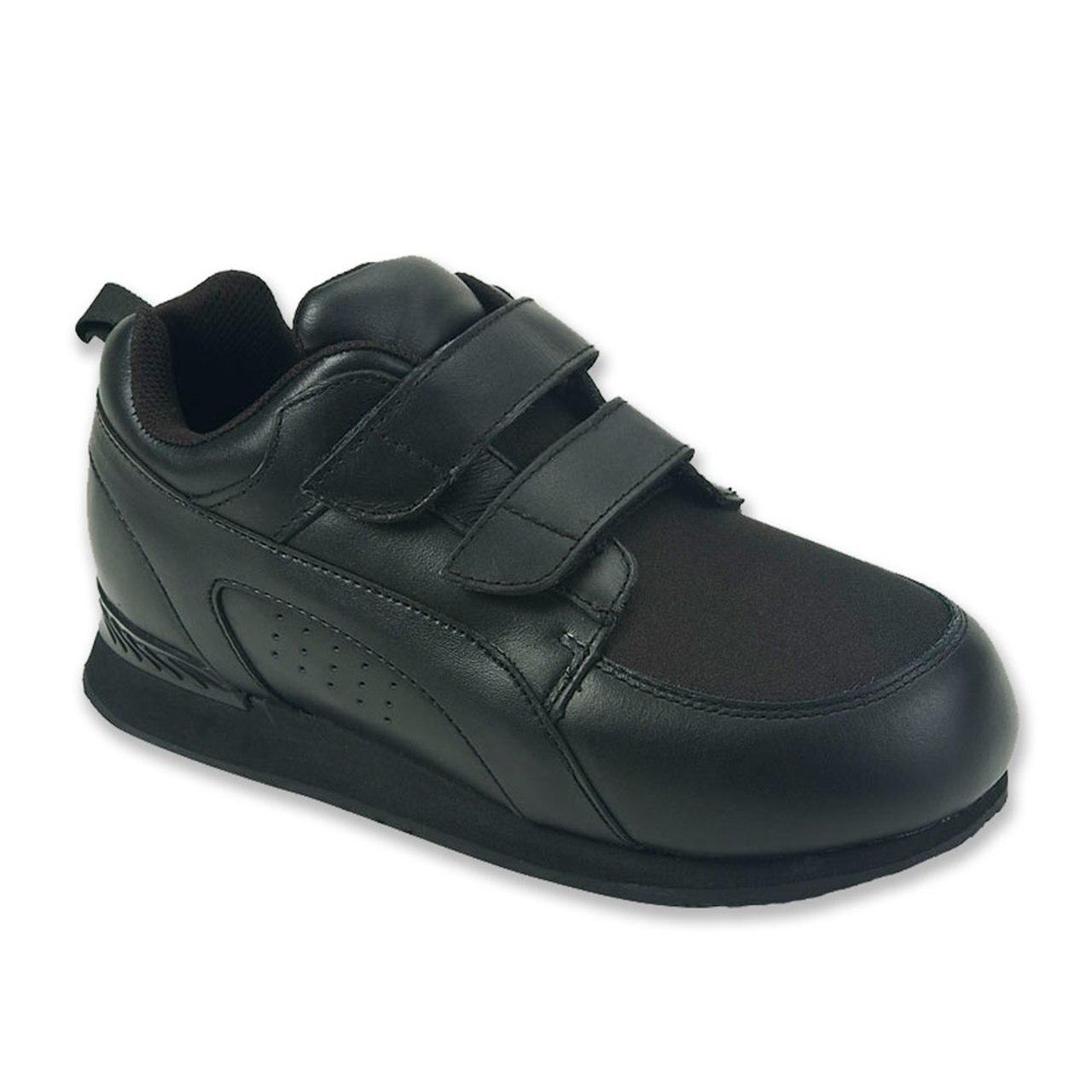 Pedors Unisex Stretch Walker Black Orthopedic Shoes (Pair)