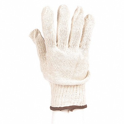 Knit Gloves Polyester/Cotton Material Knit Wrist Cuff White Glove Size L | Box of 12