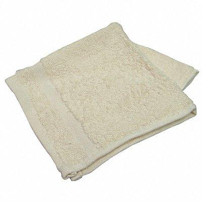12 x 12 86 Cotton 14 Polyester Wash Cloth Beige PK12
