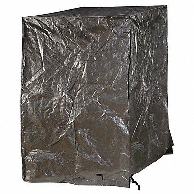 48 L x 48 W x 48 D Black Silver Pallet Cover Tarp