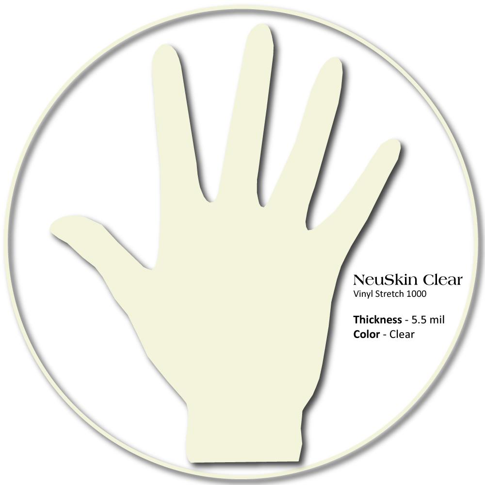 Medgluv NeuSkin Vinyl Exam Gloves, Synthetic Latex-Free, Smooth Clear, Beaded Cuff, 100/box, 1000/c