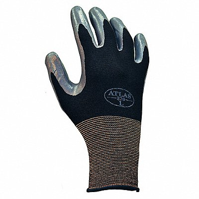 13 Gauge Smooth Nitrile Coated Gloves Glove Size M Gray/Black