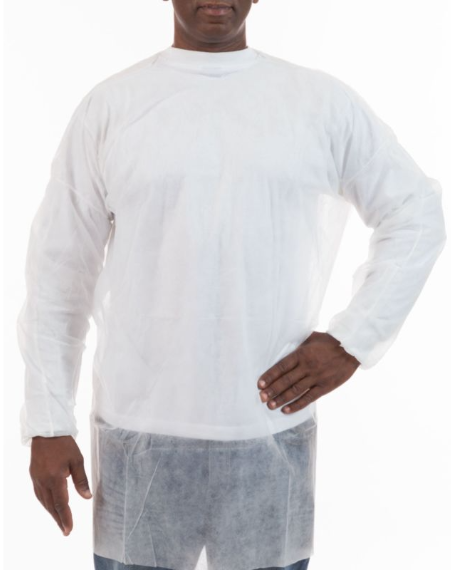 Polypropylene White Pullover Smocks