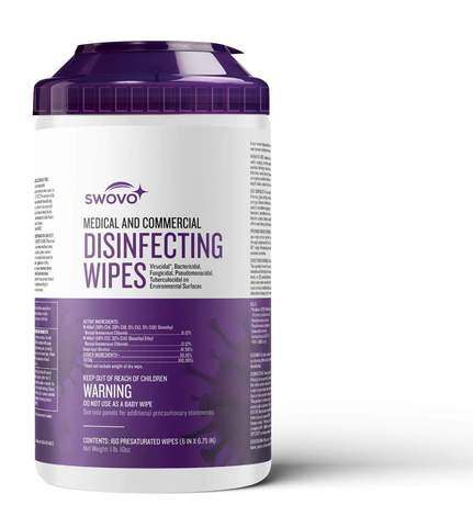 SWOVO surface disinfectant wipes, EPA Registered, 2 Minute Kill Time! Less than $8.00 Per Tub! , 12
