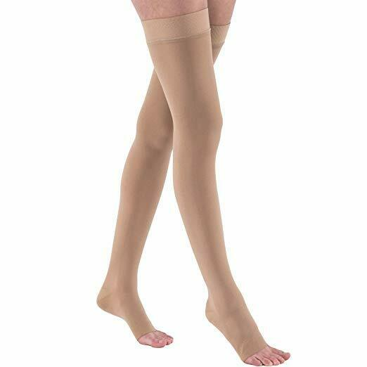 JOBST Relief Compression Stockings Thigh High 30-40 mmHg W/ Silicone Band, Beige