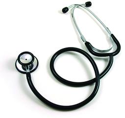 Stethoscope Dual Head Nurse Adult Black 100/CS ($3.33 ea)