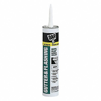 White Gutter and Flashing Sealant Hybrid 10.1 oz Cartridge