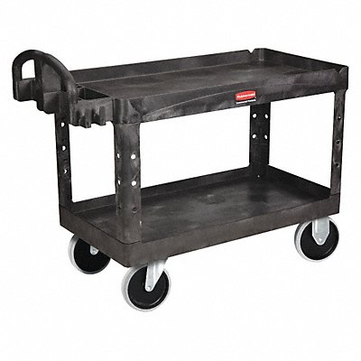 Polypropylene Raised Handle Utility Cart 750 lb Load Capacity Number of Shelves 2