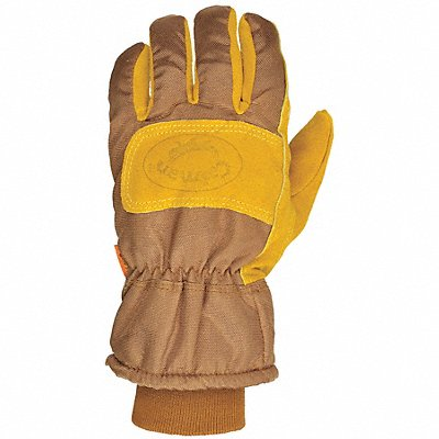 Cold Protection Gloves Heatrac? Lining Safety Cuff with Knit Wrist Cuff Brown/Gold XL PR 1