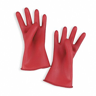 Red Electrical Gloves Natural Rubber 00 Class Size 8