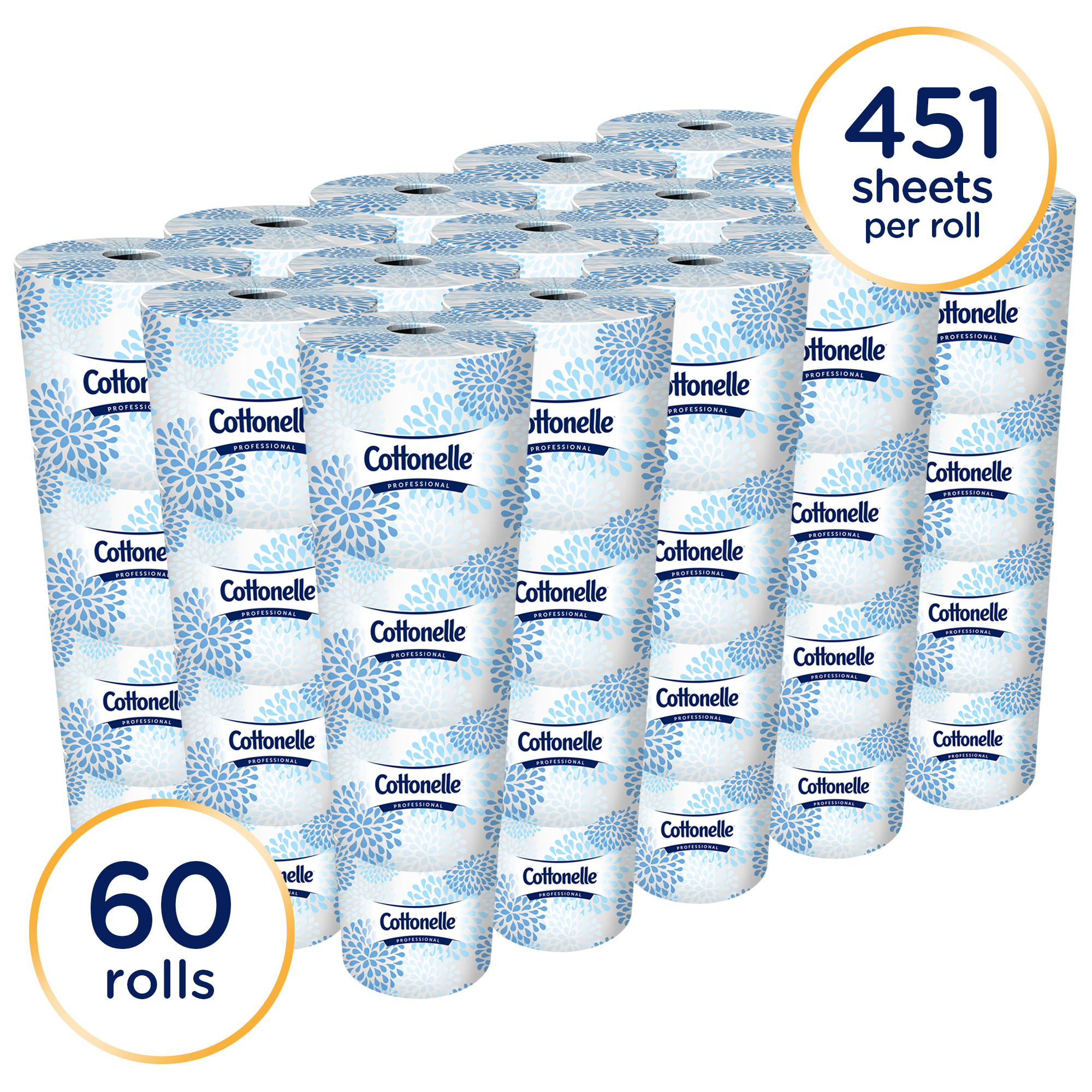Cottonelle Professional Bulk Toilet Paper for Business (17713), Standard Toilet Paper Rolls, 2-PLY,