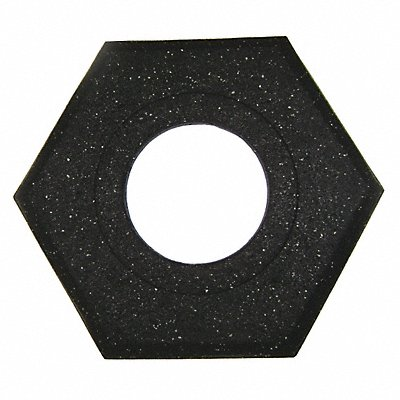 Channelizer Cone Base Black 17 x 20 x 2-1/2  15 lb. Recycled Rubber