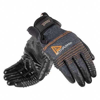 Nitrile Cut Resistant Gloves ANSI/ISEA Cut Level 2 Kevlar? Nylon Spandex? Lining Black Gray X