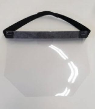 Face Shield 10 Mil with Velcro Strap, 50 per case