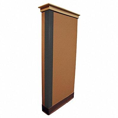 Corner Guard PVC Plastic 48 Height 1 Width 0.085 Thickness Gray