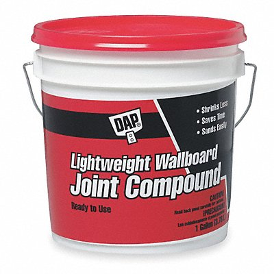 Lightweight Wallboard Joint Compound 1 gal Size White Color Container Type Pail