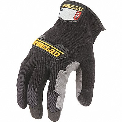 General Utility Mechanics Gloves Synthetic Leather Palm Material Black L PR 1